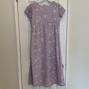 KC Parker Light Purple Floral Short Sleeve Dress